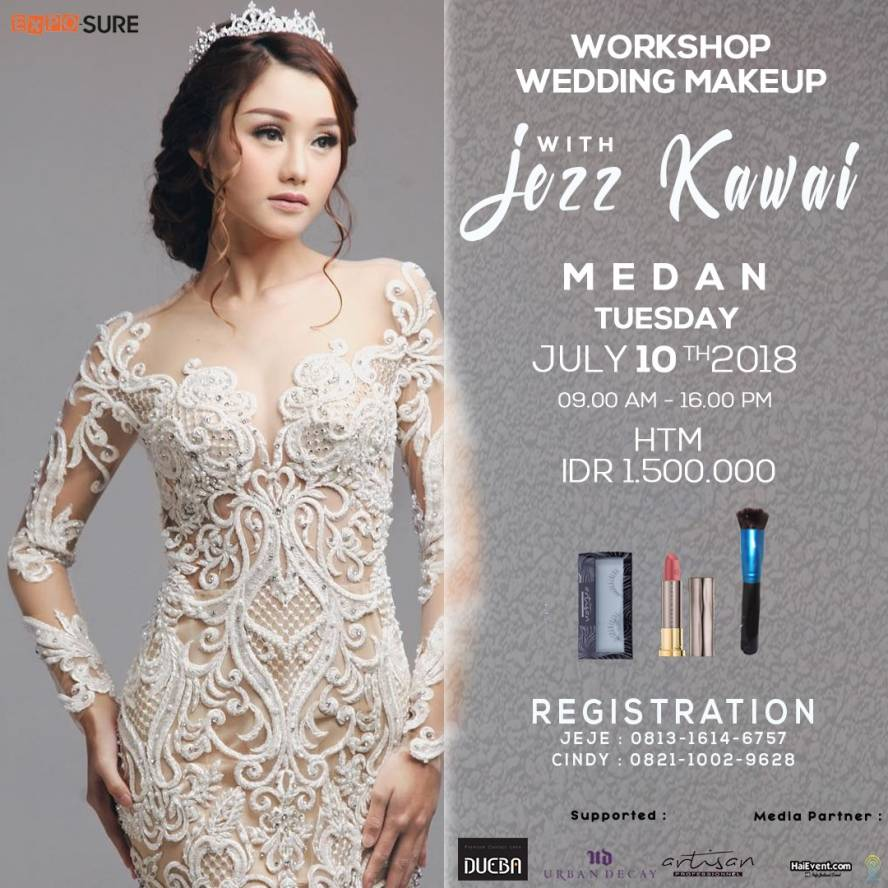 Workshop Wedding Makeup with Jezz Kawaii - Raz Hotel Medan, 10 Juli 2018