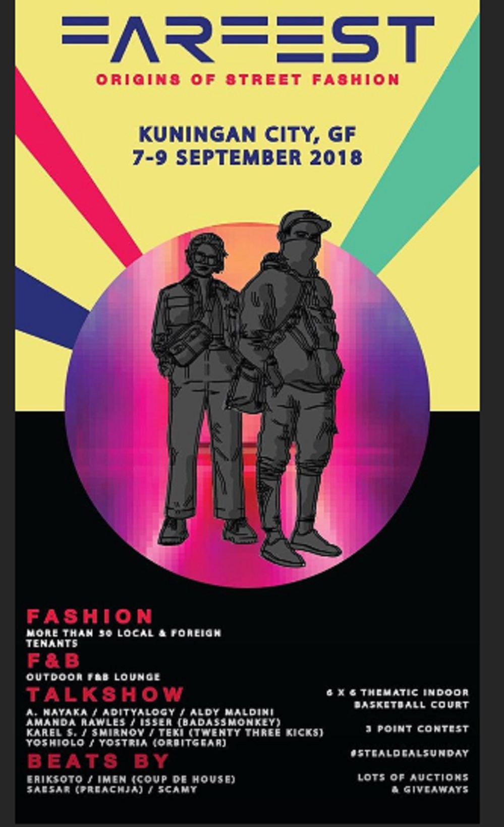 FARFEST : Origin of Street Fashion - Kuningan City Jakarta, 07-09 Sept 2018