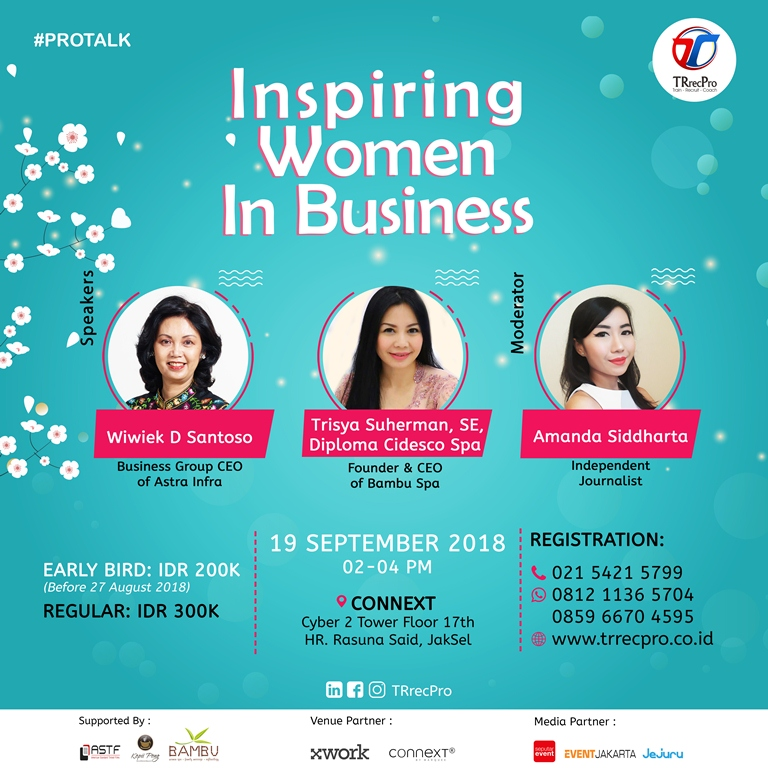 Inspiring Women in Business - Connext Cyber 2 Tower, 19 September 2018