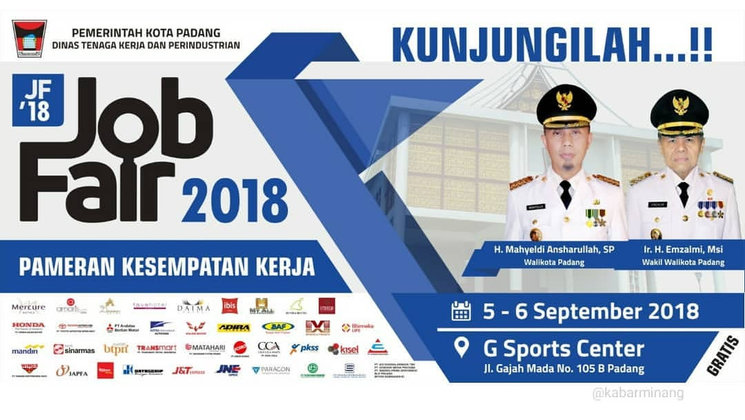 Job Fair Padang - G Sports Center, 05-06 September 2018