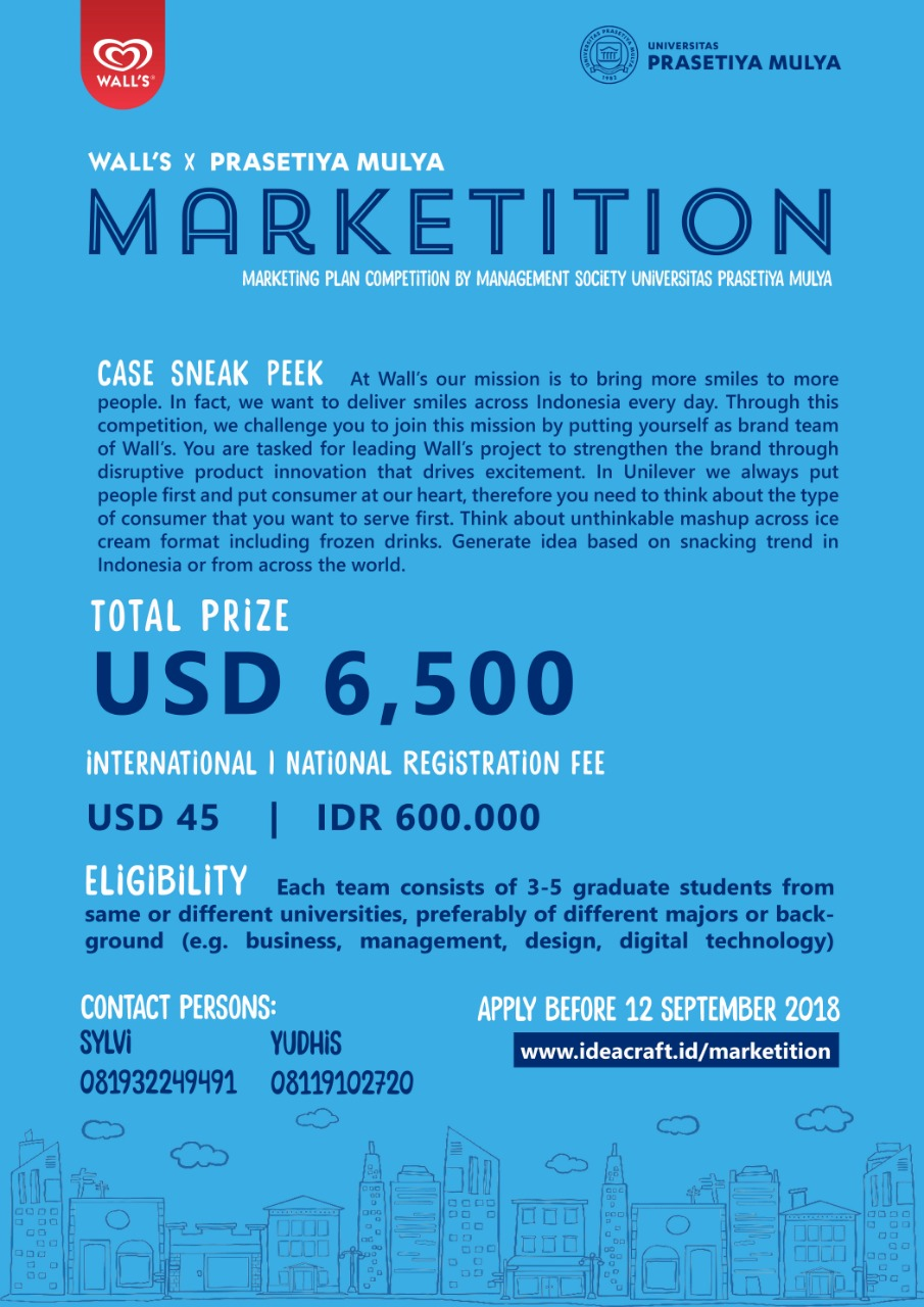 Marketition - Universitas Prasetiya Mulya, 10 November 2018