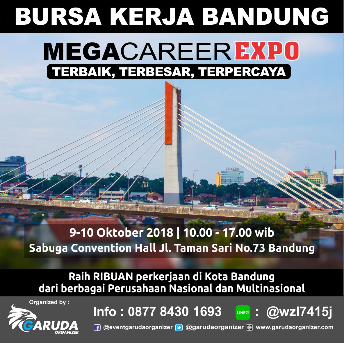 Mega Career Expo Bandung - Sabuga Convention Hall, 09-10 Oktober 2018
