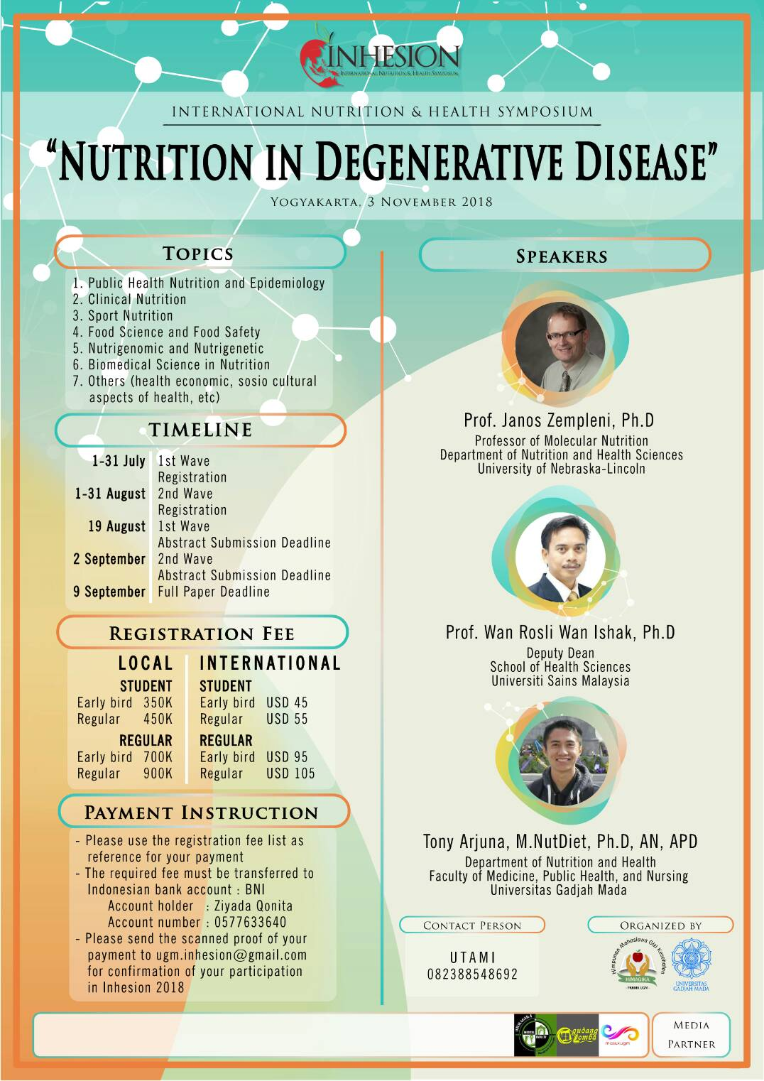 Nutrition in Degenerative Disease - Jogja Plaza Hotel, 3 November 2018
