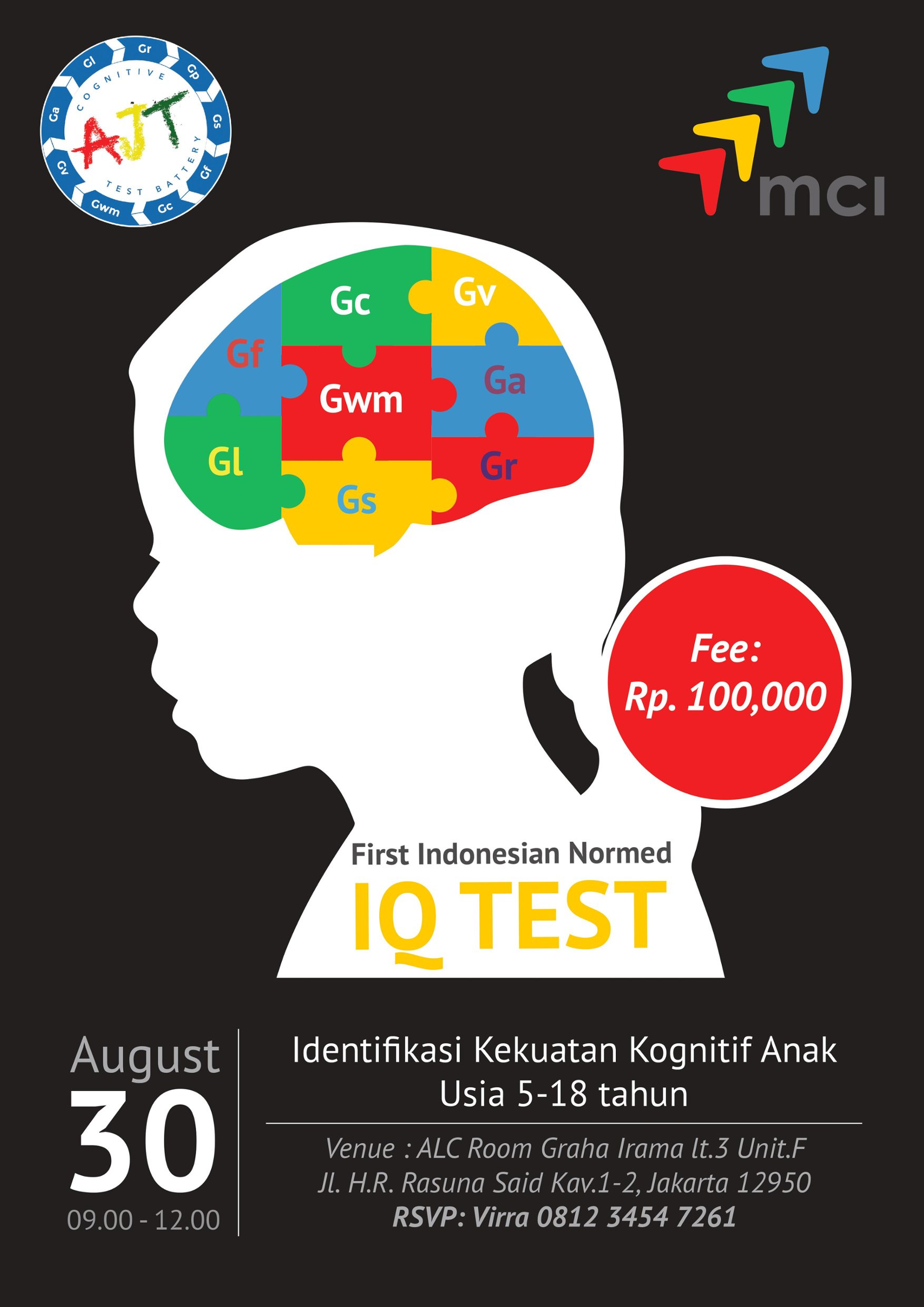Preview Event : Introduction to AJT CogTest Training - Graha Irama, 30 Agustus 2018
