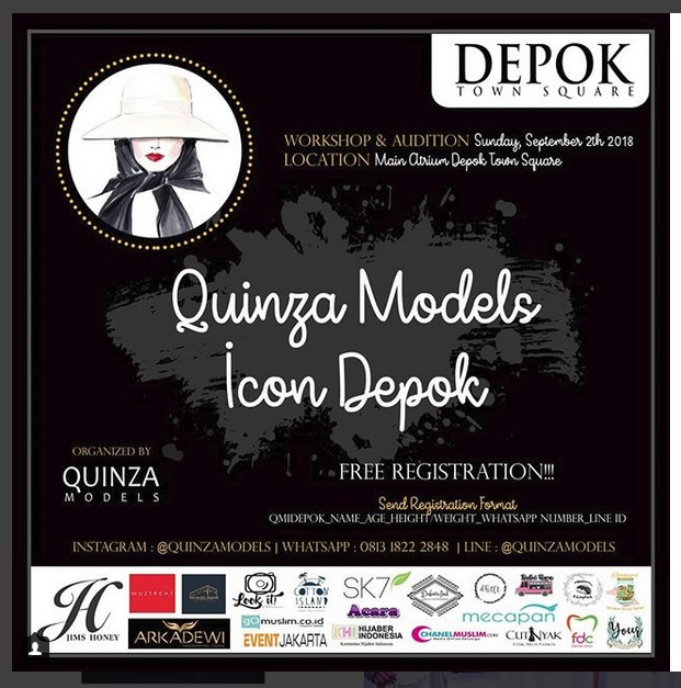 QUINZA Models Icon - Depok Town Square, 2 September 2018