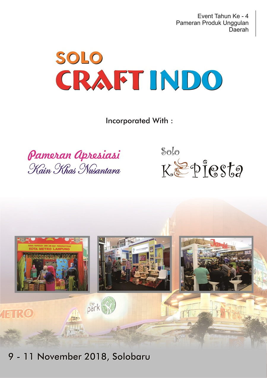 Solo Craft Indo - Solobaru, 9-11 November 2018