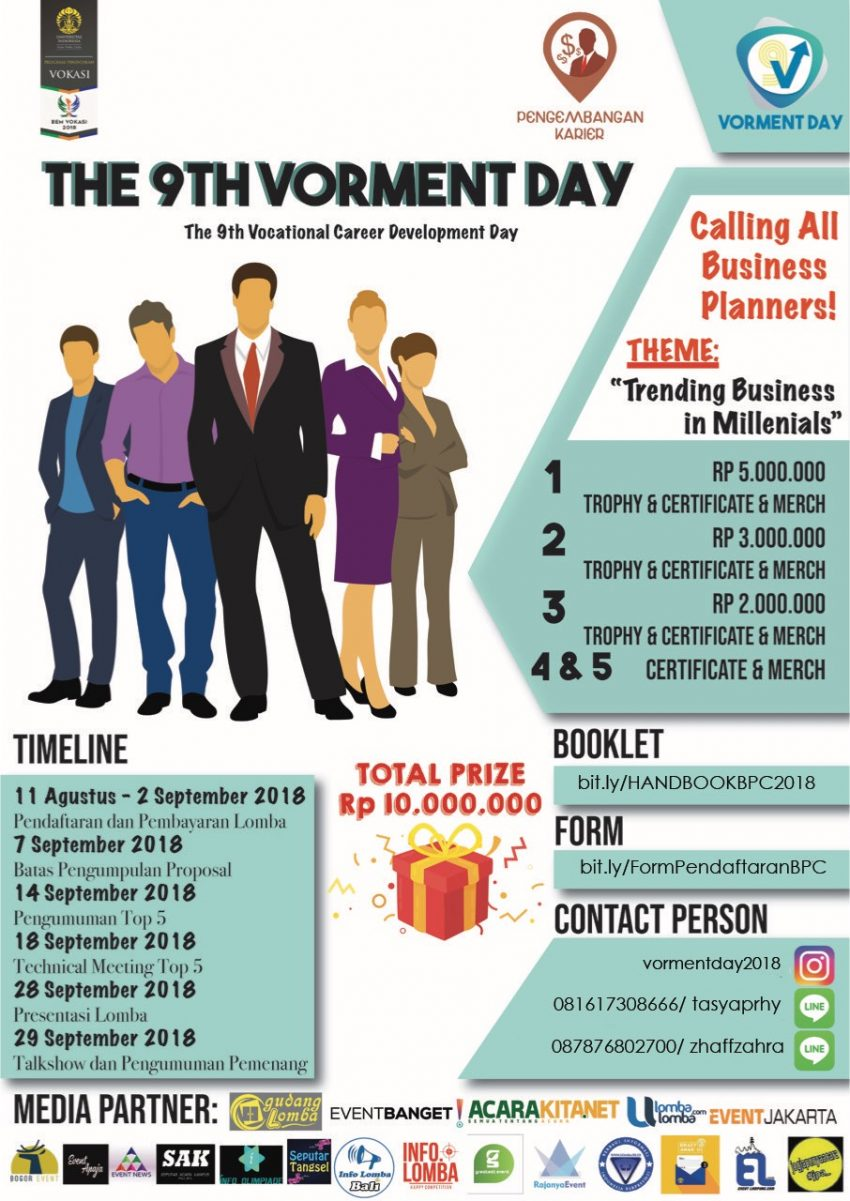 The 9th Vocational Career Development Day (Vorment Day) - Universitas Indonesia