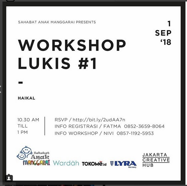 Workshop Lukis #1 - Jakarta Creative Hub, 1 September 2018
