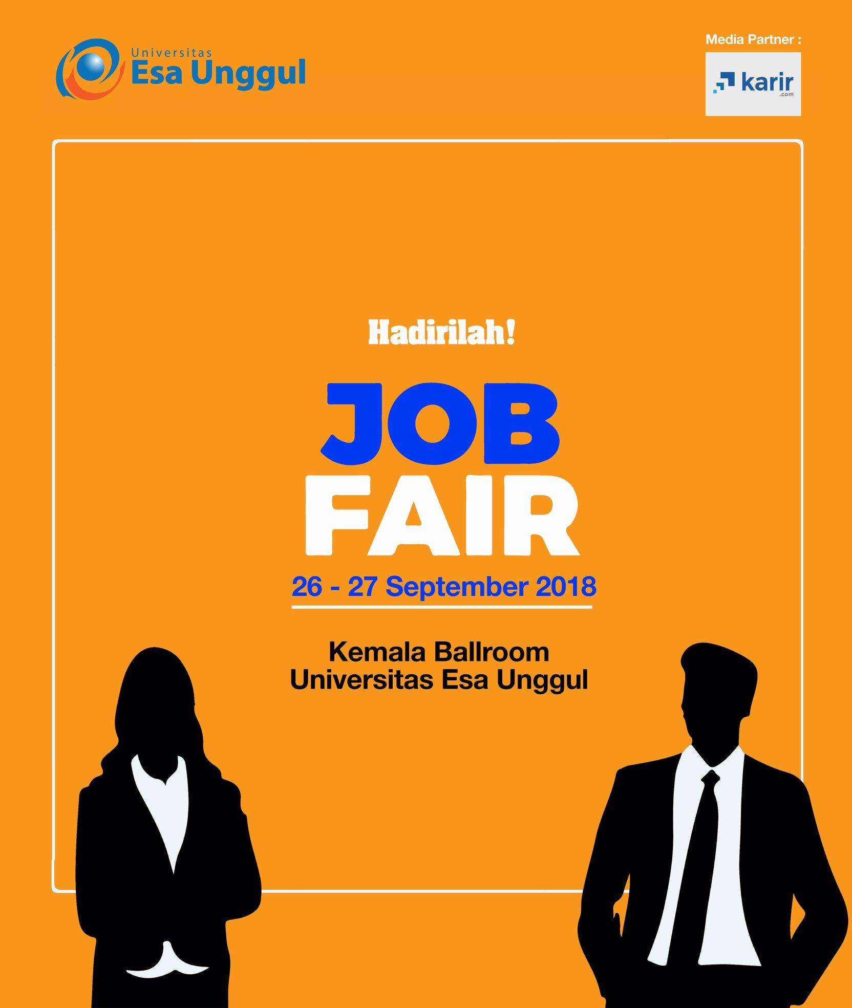 Esa Unggul Career Day & Job Fair - Kemala Ballroom, 26-27 September 2018