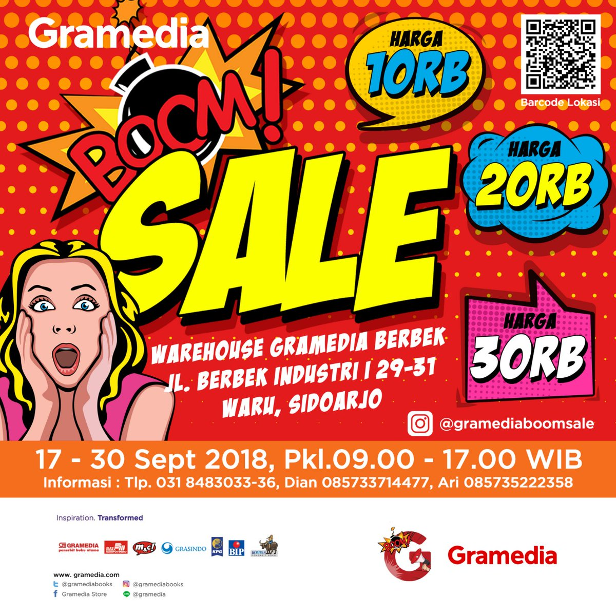 Gramedia Boom Sale - Warehouse Gramedia Sidoarjo, 17-30 September 2018