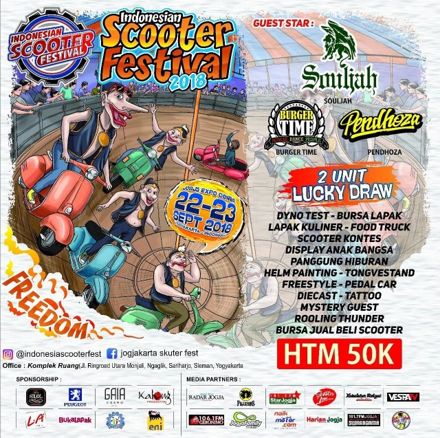 Indonesian Scooter Festival - Jogja Expo Center (JEC), 22-23 September 2018