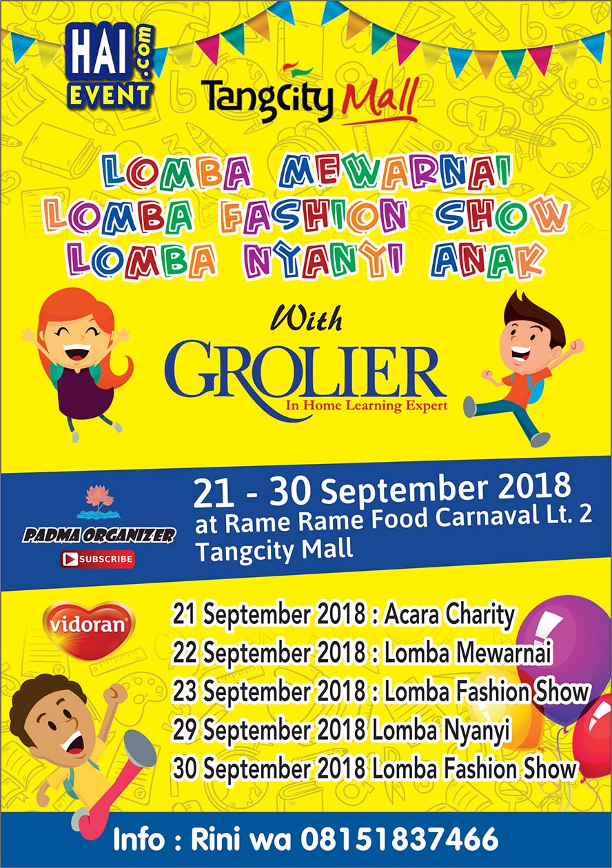 Lomba Mewarnai - Tangcity Mall, 22 September 2018