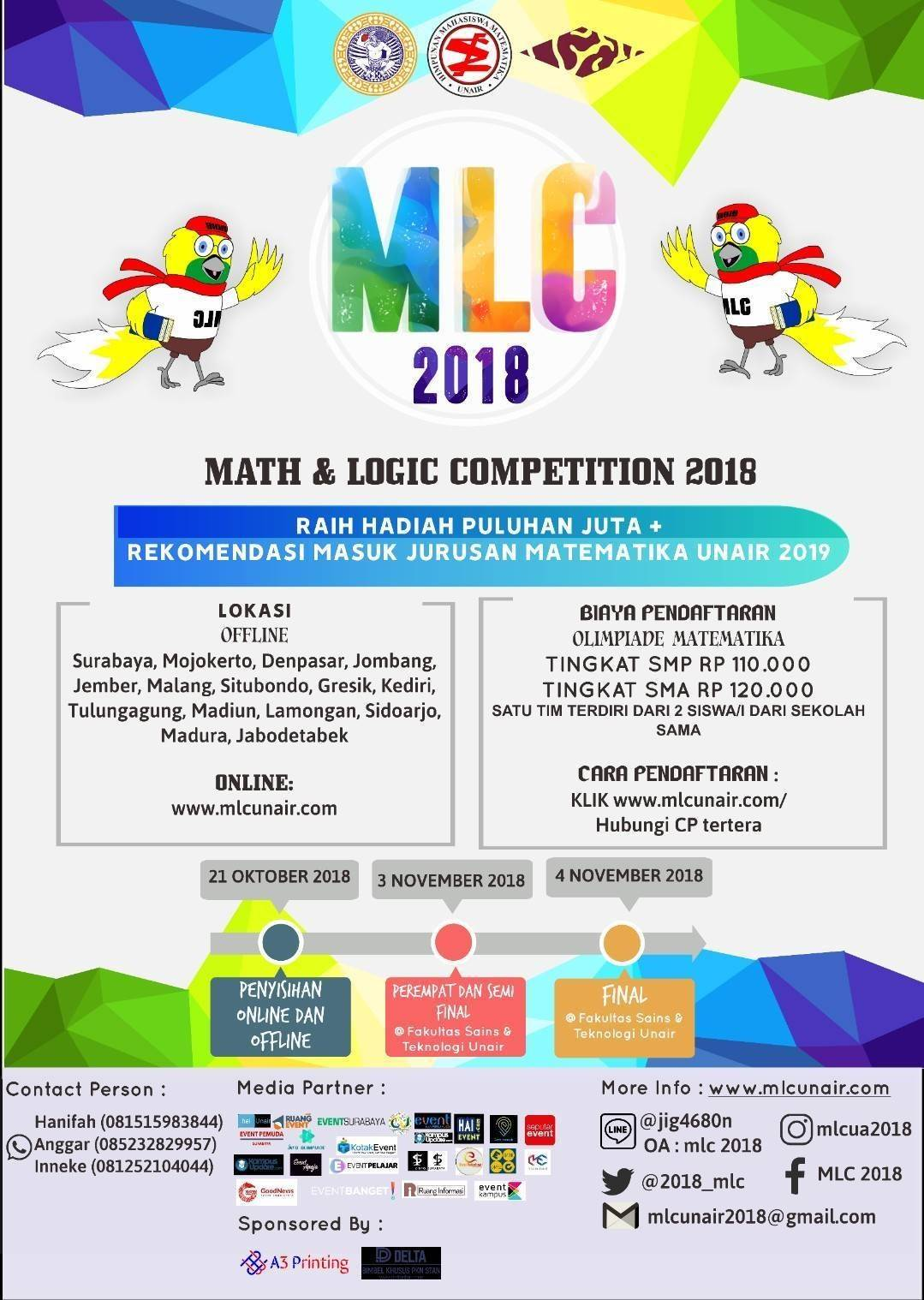 Math and Logic Competition (MLC) 2018 - UNAIR