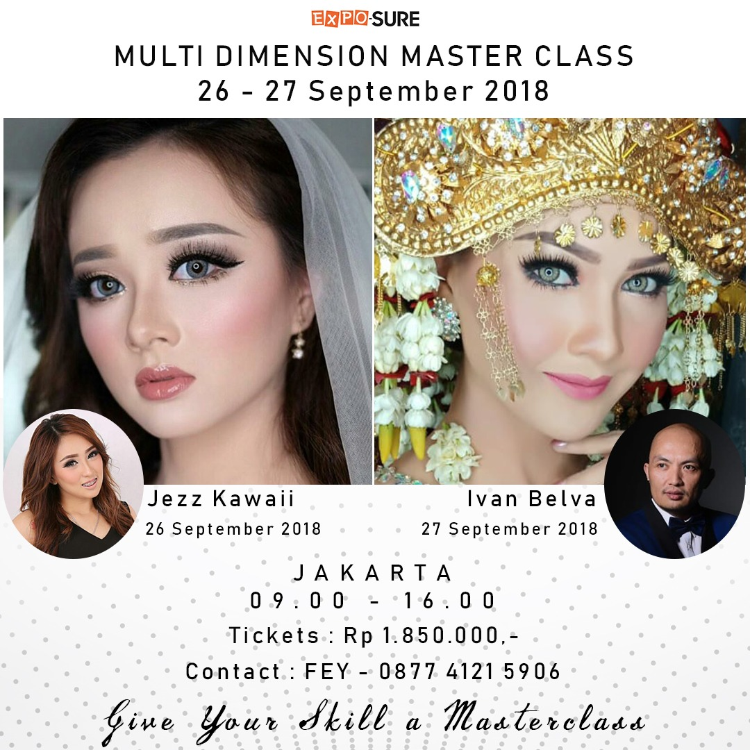 Multi Dimension Master Class with Jezz Kawaii & Ivan Belva - Jakarta, 26-27 September 2018