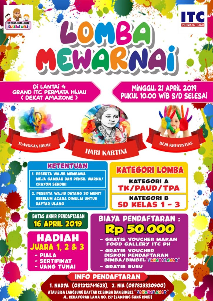 Lomba Mewarnai Hari Kartini – Grand ITC Permata Hijau, 21 April 2019