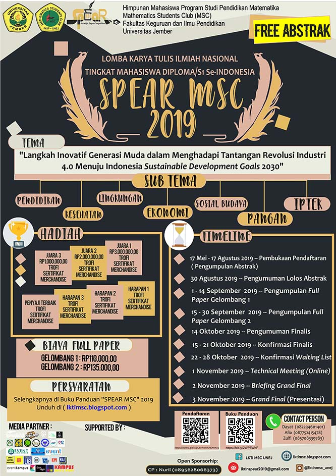 LKTIN SPEAR MSC 2019 – Universitas Jember