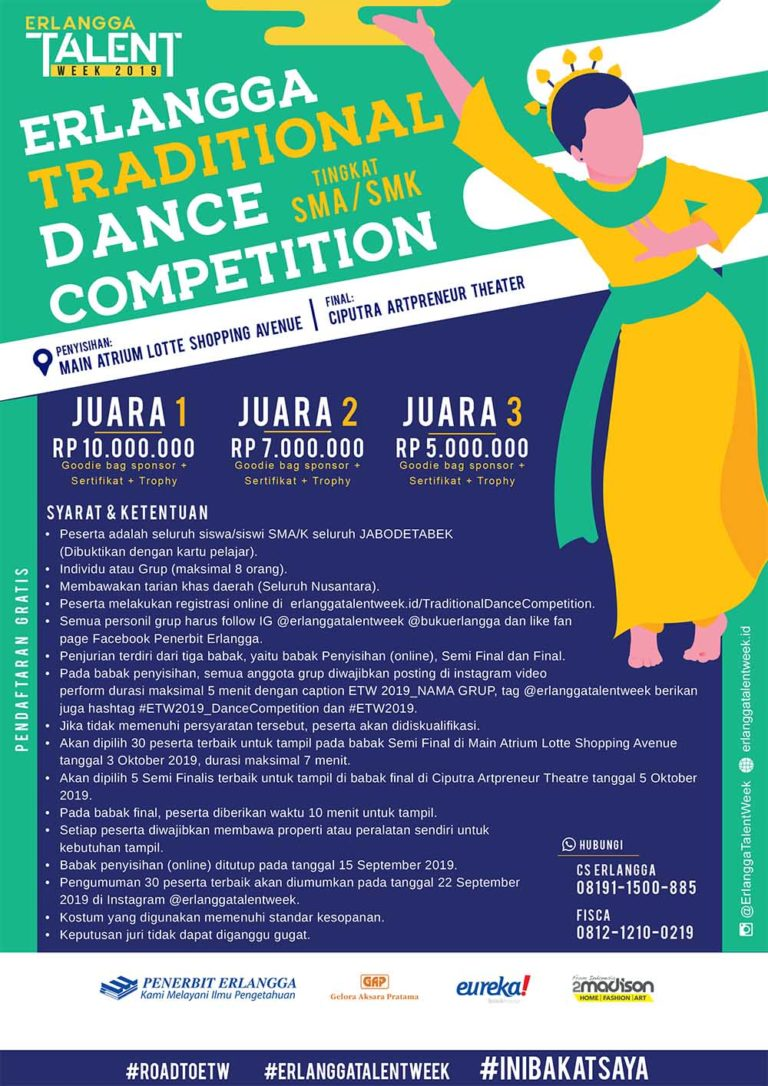 Erlangga Traditional Dance Competition