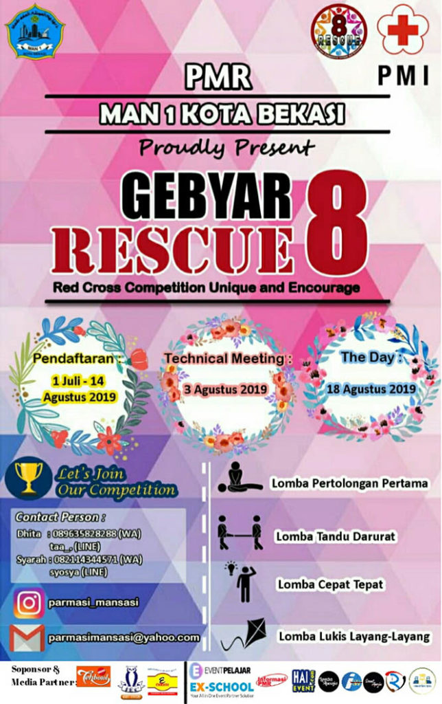 Gebyar 8 with RESCUE (Red Cross Competition Unique and Encourage) – MAN  1 Kota Bekasi, 18 Agustus 2019
