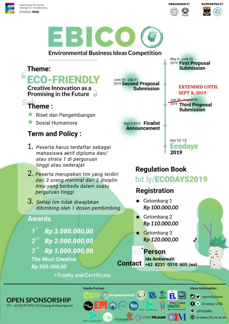 EBICO (Environmental Business Ideas Competition) 2019 – UNS