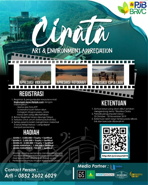 Cirata Art & Environment Appreciation – Pengumpulan Karya s/d 18 November 2019