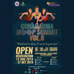 Kompetisi Basket : Gunadarma Hoop Summit Vol. 6