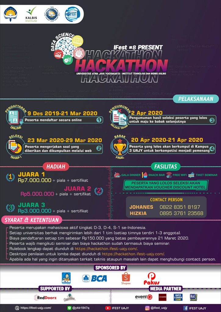 Data Science Hackathon IFest#8 – Universitas Atma Jaya Yogyakarta